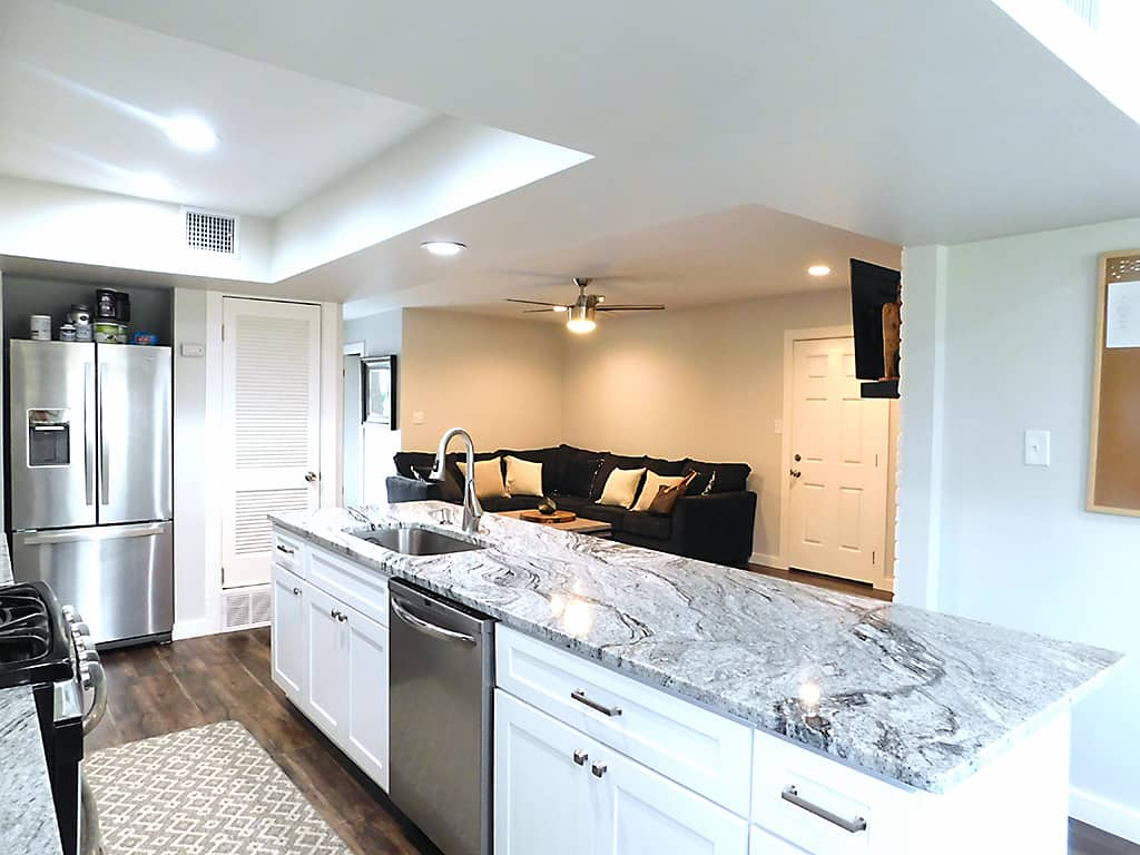 Austin, TX sober living house with an open floor plan