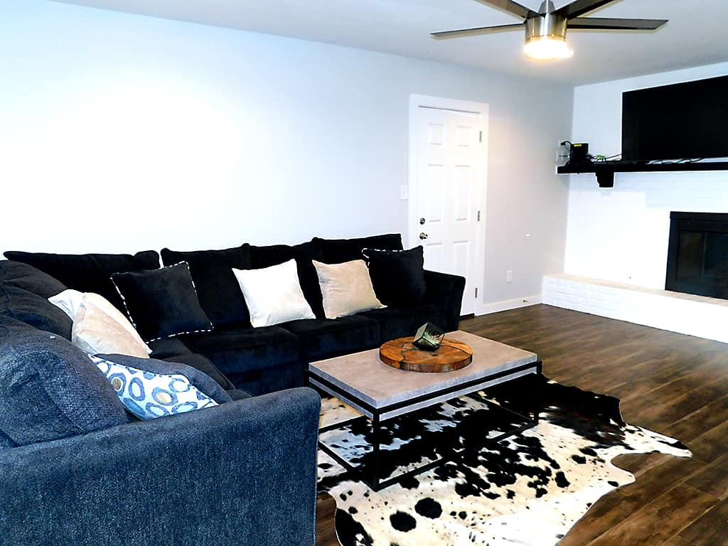 Living room in our sober living house at Higher Plane Recovery