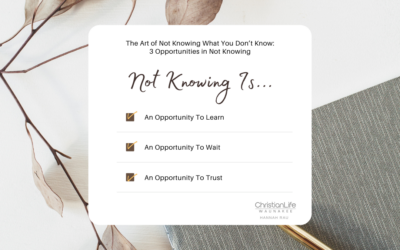 The Art of Not Knowing What You Don't Know: 3 Opportunities in Not Knowing