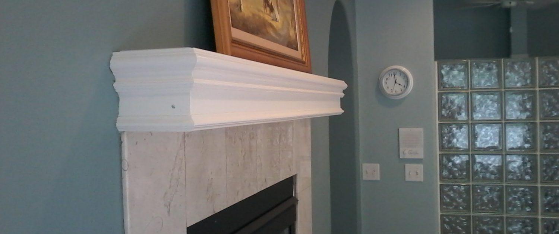 Whitty Bathroom Fireplace Mantel