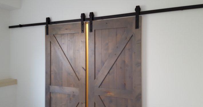 Ament Basement Remodel Farm Doors 2