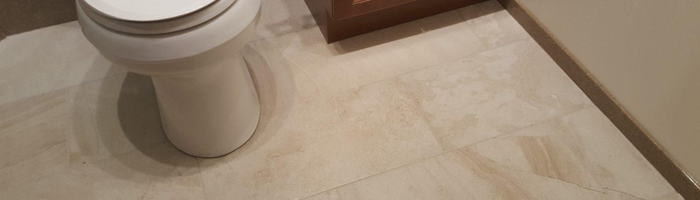 Brown Basement tile flooring