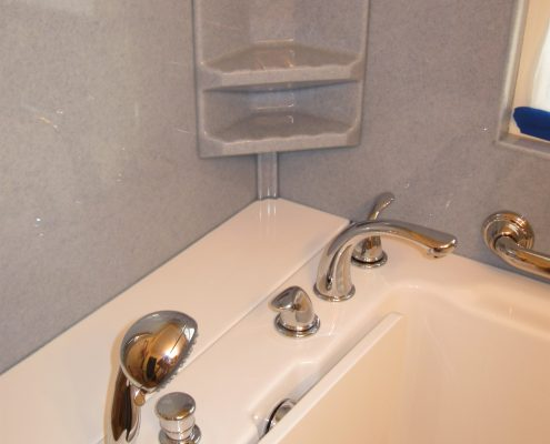 Holm walk in tub faucet with shower handset