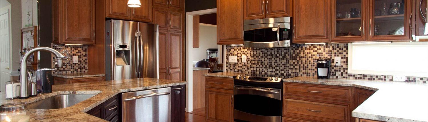 kitchen with glas tile