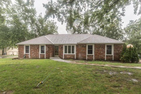 Davis whole house remodel, front exterior is bayou blend brick