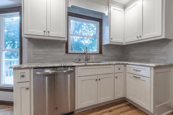 Davis kitchen new sink and quartzite countertop