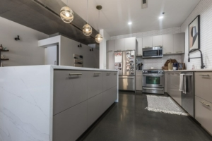 Keener modern eurostyle kitchen cabinets gray