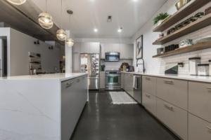 Open concept elegant kitchen remodel