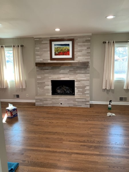 after cleaver fireplace