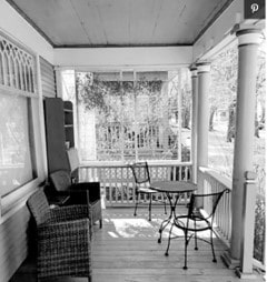 green porch before