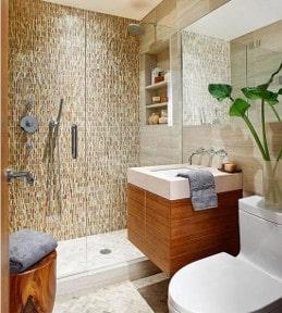 tired old bath tile after