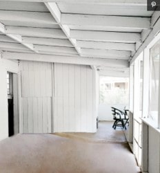 white porch before