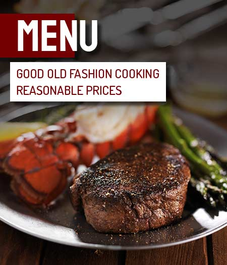 menu - good old fashioned cooking reasonable prices