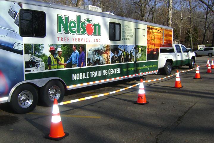 Nelson Tree Service safety van