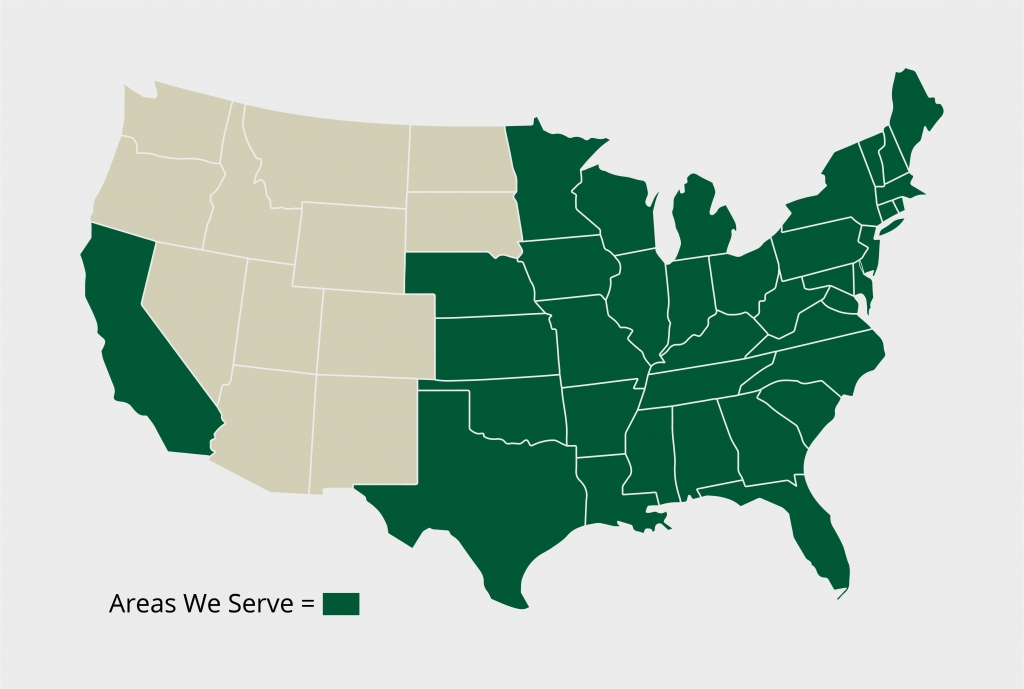 Map of Who We Serve