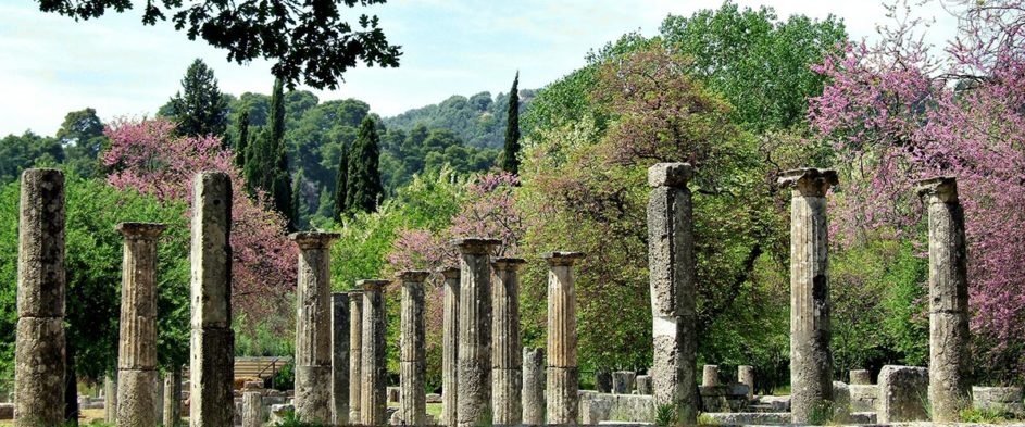 The Palestra in ancient Olympia. This was the ancient Greek wrestling school.