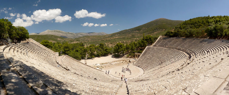 The ancient theater of Epidavros.