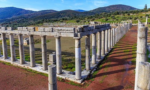The ancient site of Messene