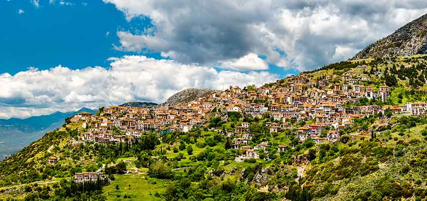 The picturesque mountain town of Arachova