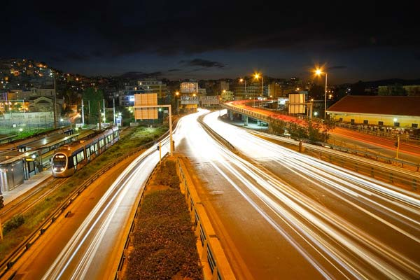 Highways in Athens Greece