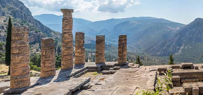 The temple of Apollo at Ancient Delphi