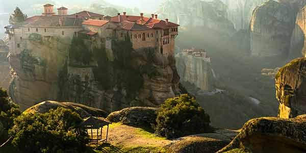 The monasteries at breathtaking Meteora