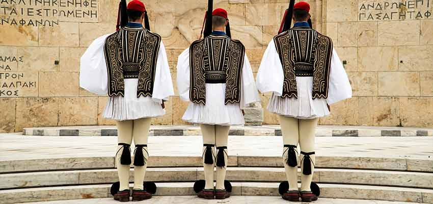 The national Evzones guards in Athens