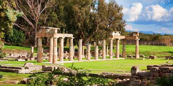 The temple of Artemis in Vravrona