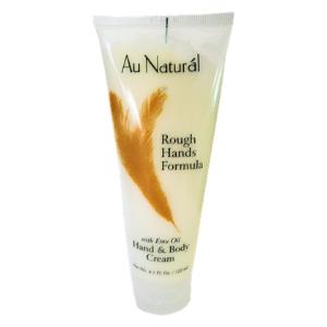 Rough Hands Formula in a lotion bottle