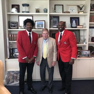 L.E.A.D. Ambassador Javien, Senator Johnny Isakson and L.E.A.D. CEO CJ Stewart