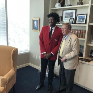 L.E.A.D. Ambassador Javien Woods and Senator Johnny Isakson
