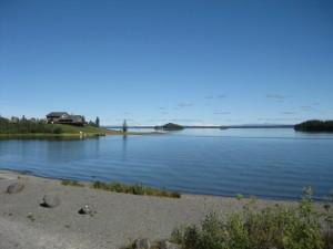 Lodge across bay