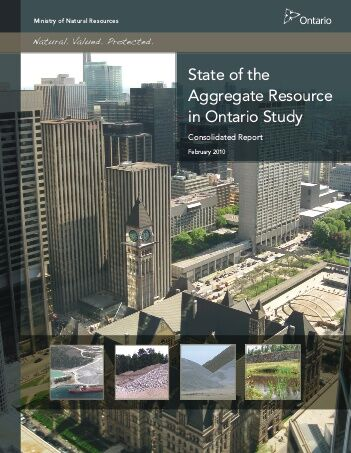 Cover image of State of Aggregate Resources in Ontario study