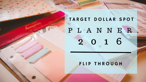 A Flip Through of My Target Dollar Spot Planner!