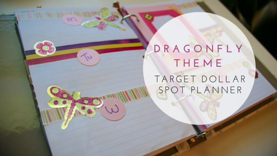 Target Dollar Spot Planner Weekly Spread   Dragonfly Theme