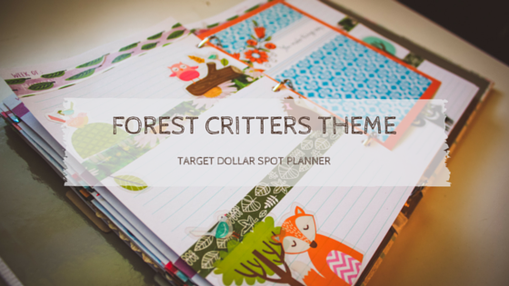 Forest Critters Theme   Target Dollar Spot Planner