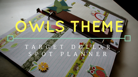 Cute Owls Theme for the Target Dollar Spot Planner