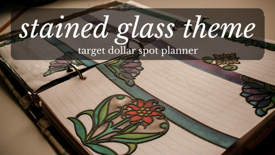 Stained Glass Theme for the Target Dollar Spot Planner