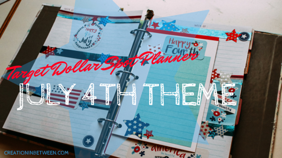 Happy 4th of July!   Target Dollar Spot Planner Weekly Theme