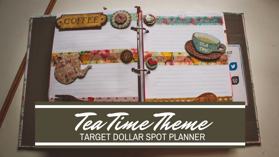 Tea Time Theme for the Target Dollar Spot Planner