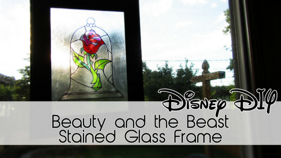 Beauty and the Beast Stained Glass Frame   30 Days of Disney #9