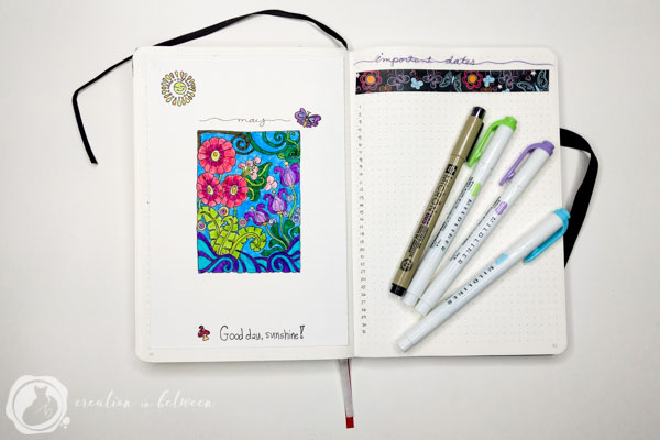 Flowers Bullet Journal May Theme