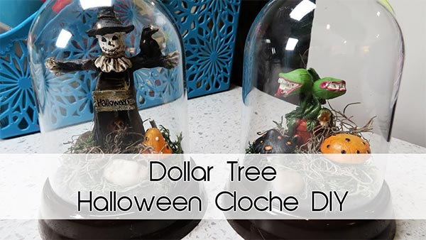 Halloween Cloche DIY | Most supplies from Dollar Tree!