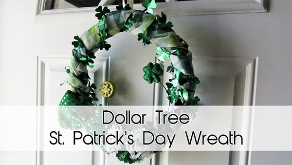 St. Patrick's Day Wreath | All Dollar Tree Items