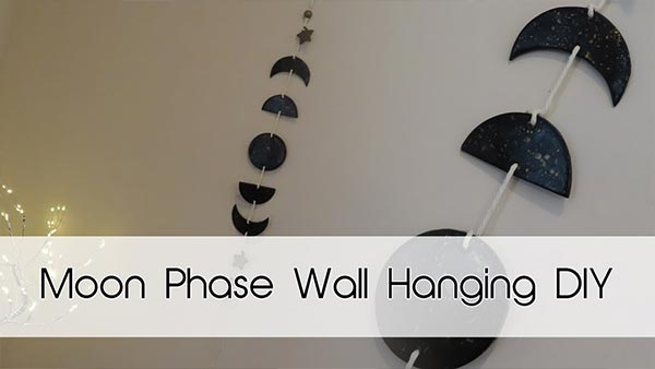 Moon Phases Wall Hanging DIY