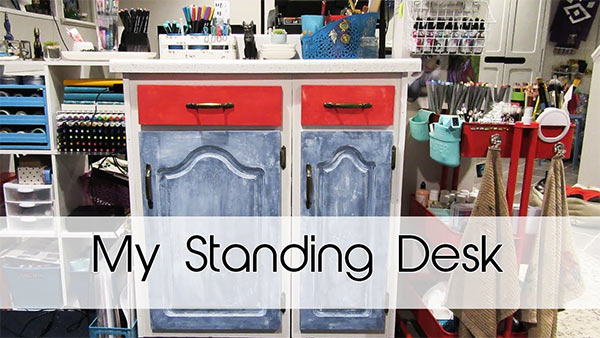 My Standing Desk | Re-purposing old cabinets!