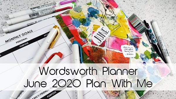 Wordsworth Planner | June 2020 Plan With Me