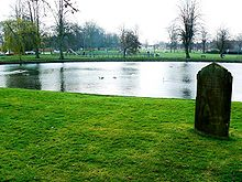Pond at Devizes, Wiltshire, where the Moonrakers legend may have occured