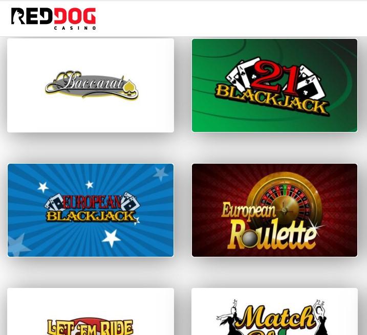 Red Dog Casino: Blackjack Games