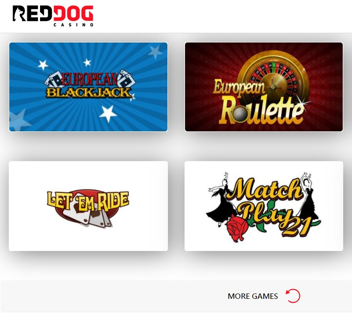 Red Dog Casino: European Roulette